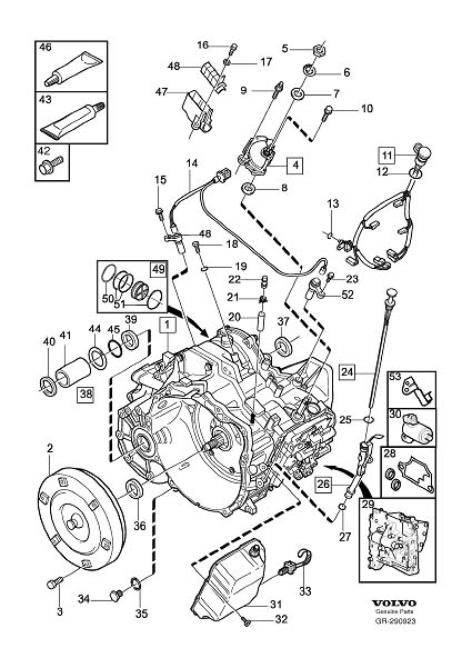Volvo S80 Service Kit. Bevel Gear. Gearbox, Automatic