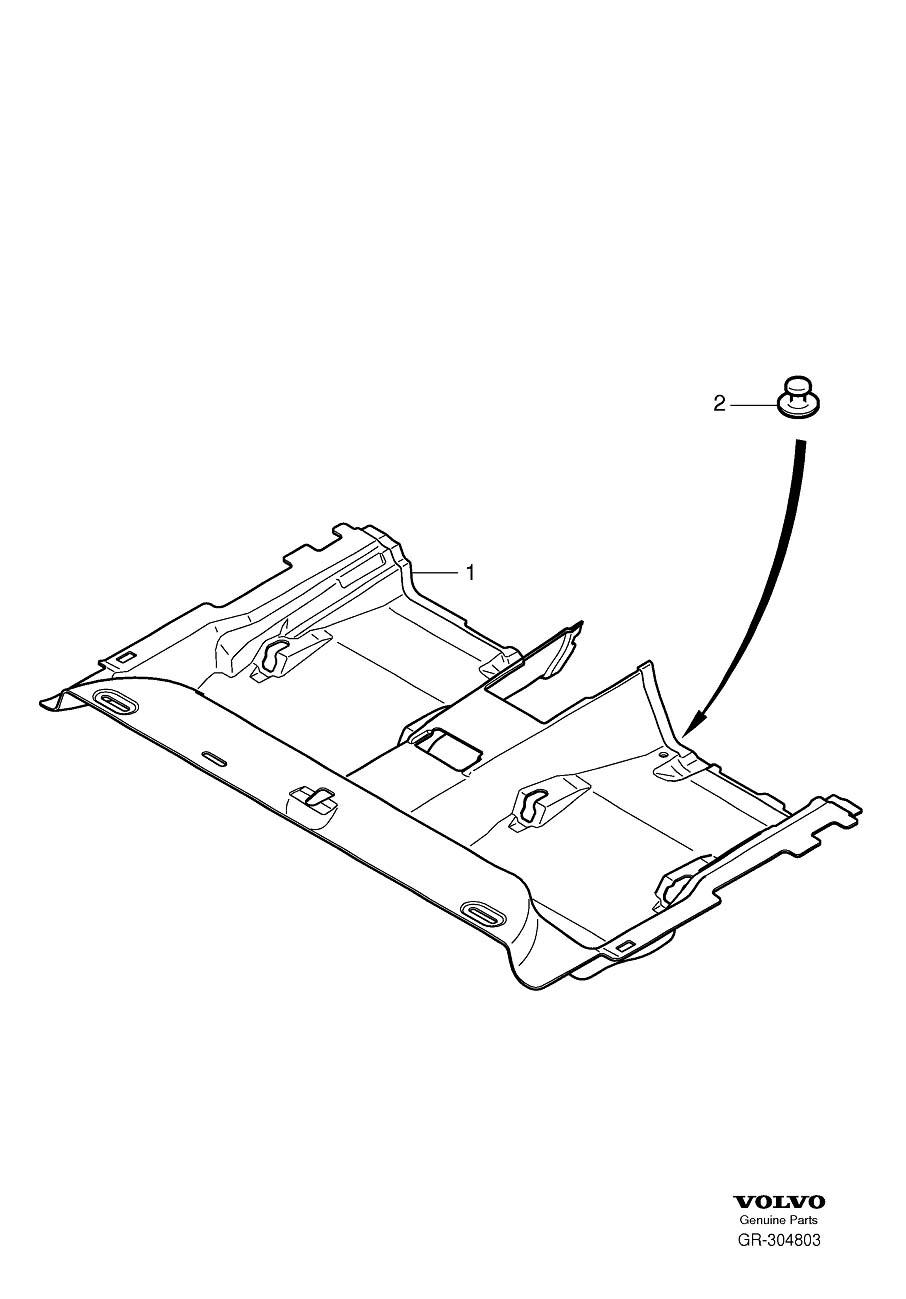 Volvo XC60 Floor Carpet (Rear, Mocca, Brown, Interior code