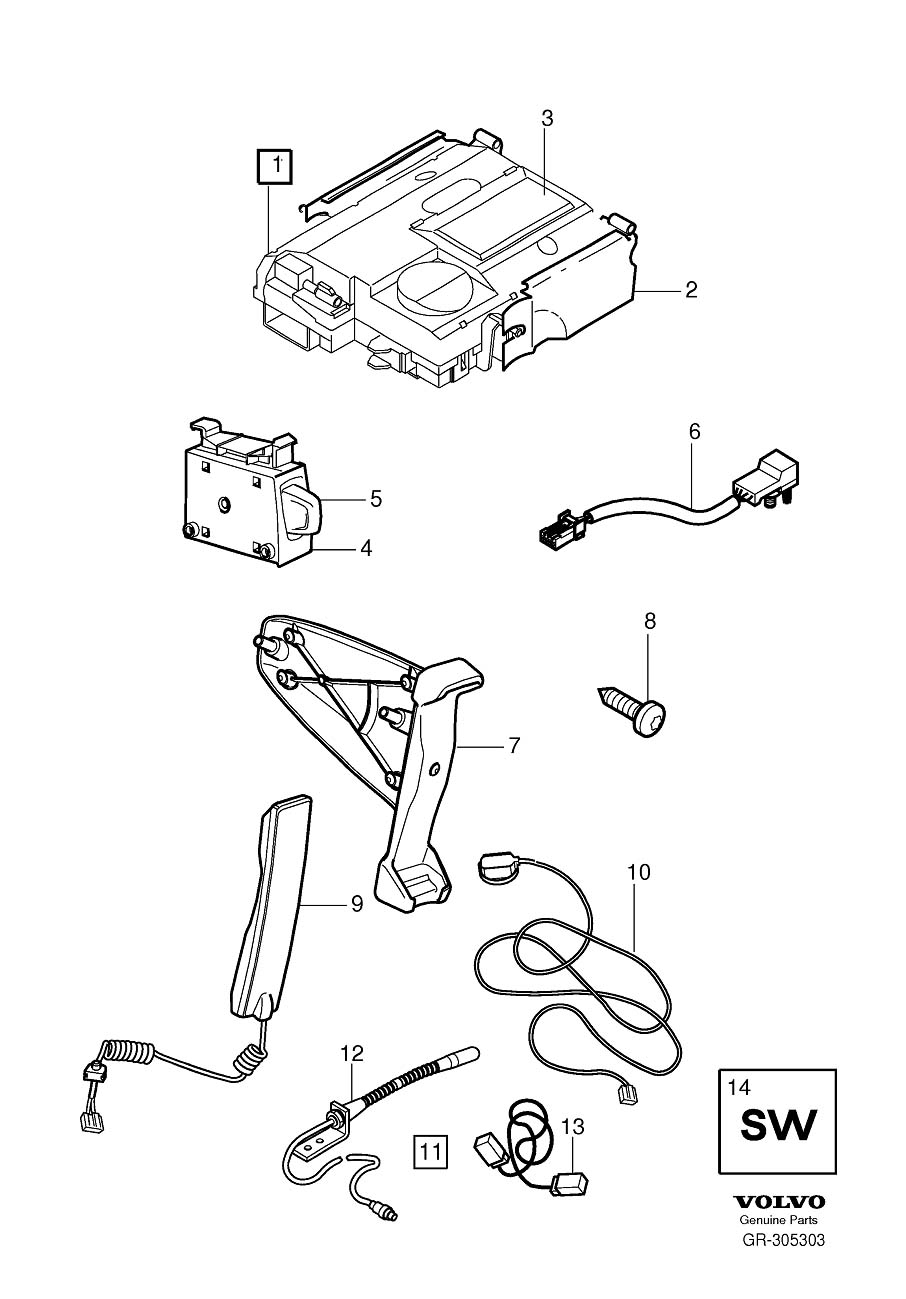 Volvo C30 Wiring Harness. Mobile Telephone. TELEFIXED