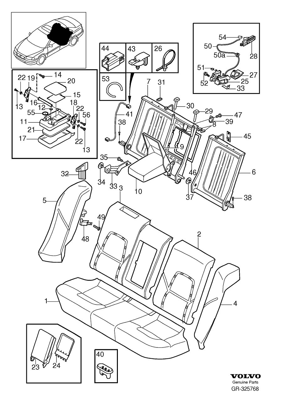 Volvo S80 Seat Belt Guide (Right, Rear, Charcoal
