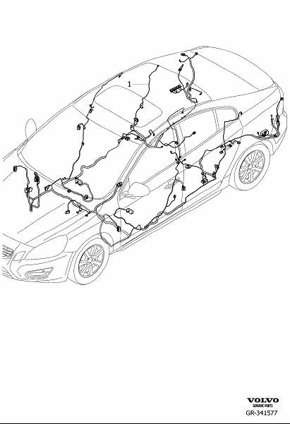 Volvo S60 Wiring Harness. Cable Harness Floor section