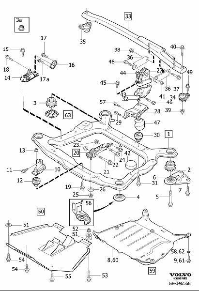 Volvo S80 Suspension Sway Bar Bracket Nut. Flange Nut