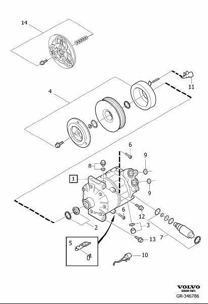 Volvo XC90 Bracket. Compressor. Kit. B8444S. Interior