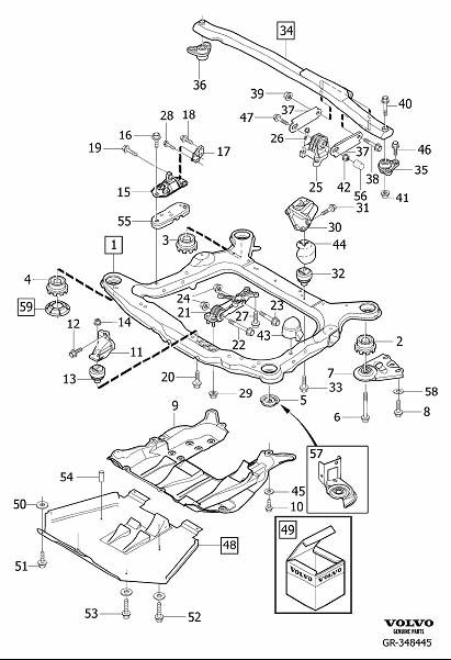 Volvo XC90 Motor Mount. Spacer. Diesel. Engine Mounting