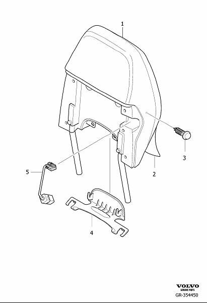 Volvo S80 Wiring Harness. Adapter Wiring. Head Restraint