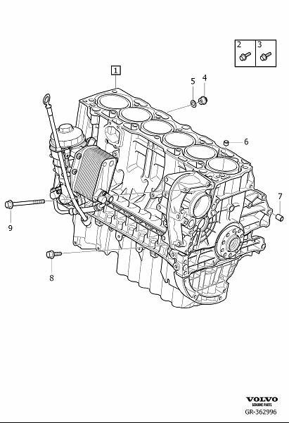 Volvo XC90 Flange Screw. Bevel Gear. Cylinder Block