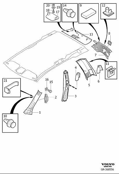Volvo XC90 Quarter Panel Vent (Right, Interior code: CX8X