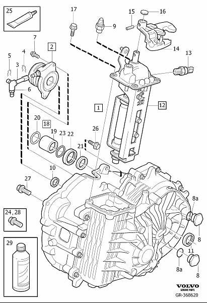 Volvo V50 Transfer Case Output Shaft Seal. Drive Shaft