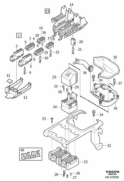Volvo XC90 Wiring Harness Connector. Receptacle Housing