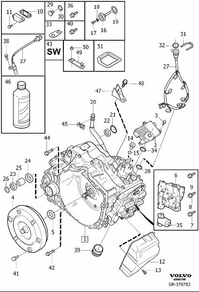 Volvo V70 Level Indicating Pipe. Gearbox, Automatic