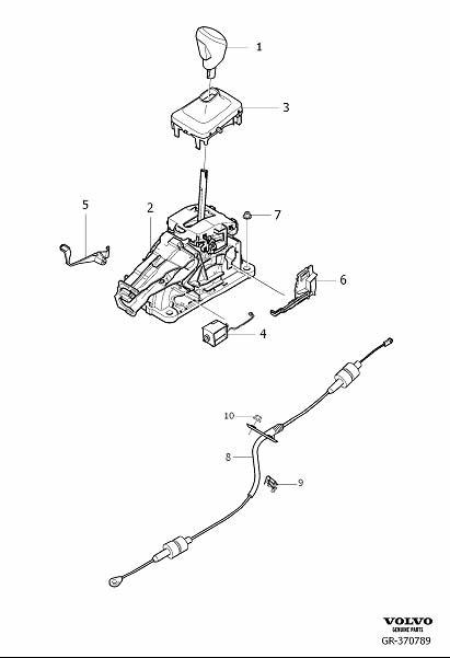 Volvo S80 Gear Shift Lever Knob. Gear Selector Passenger