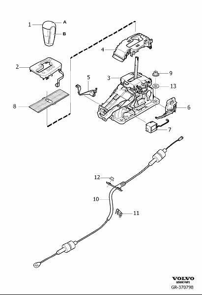 Volvo S80 Automatic Transmission Shift Lever Knob