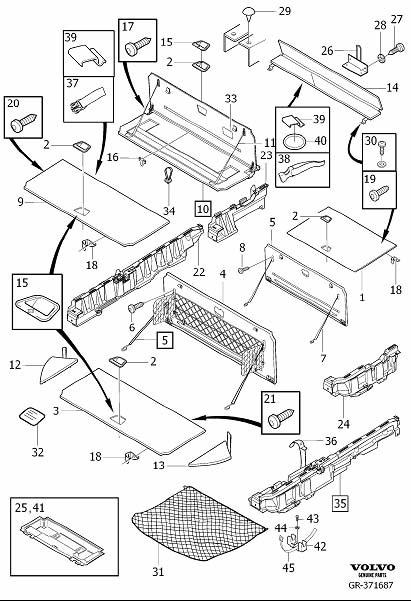 Volvo XC90 Service Kit. Interior Trim Components Cargo