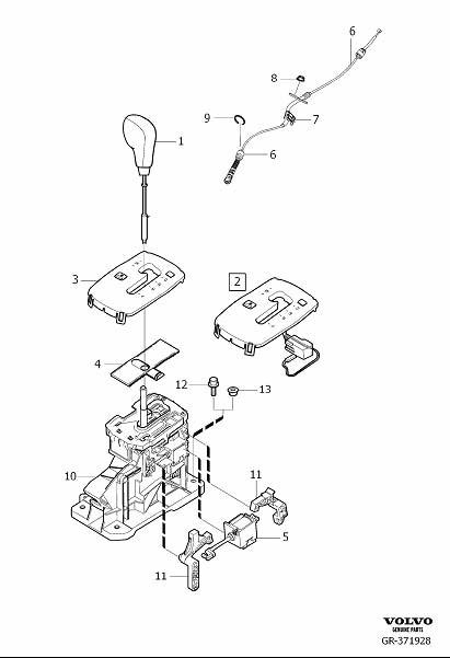 Volvo V50 Automatic Transmission Shift Lever Knob. Gear