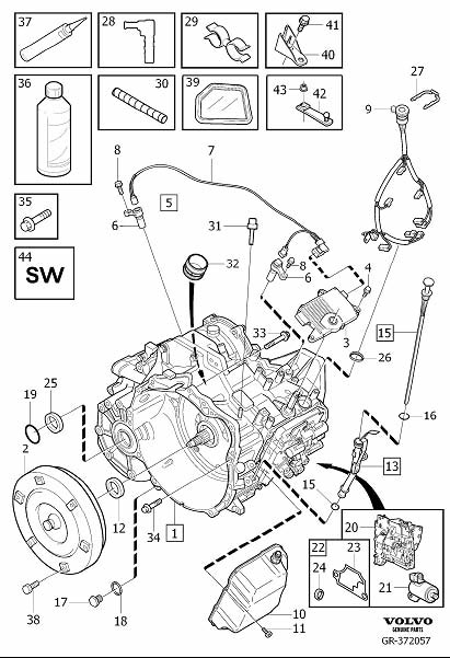 Volvo V50 Automatic Transmission Control Solenoid. Gearbox