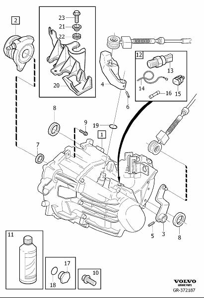 Volvo V50 Sealing. Brush Holder 18. Manual Gearbox. Manual