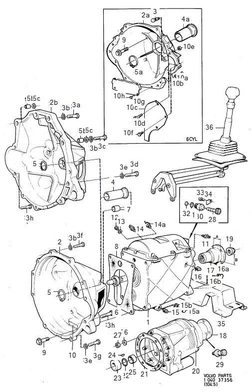 Volvo 260 Speedometer Gear. Transmission, Gearbox, Manual