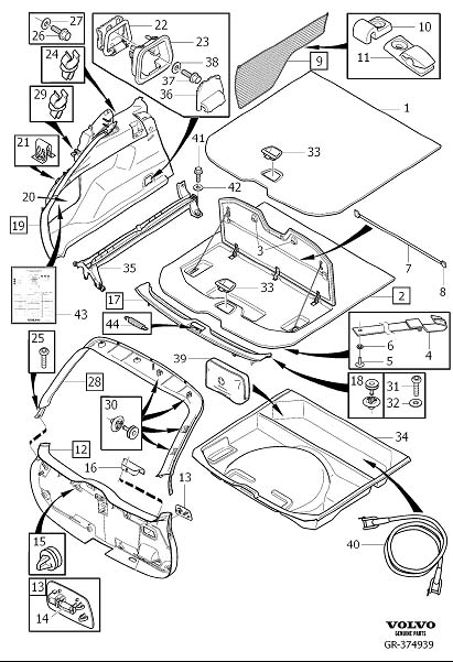 Volvo XC60 Cap. ERAD. Interior Trim Luggage Compartment