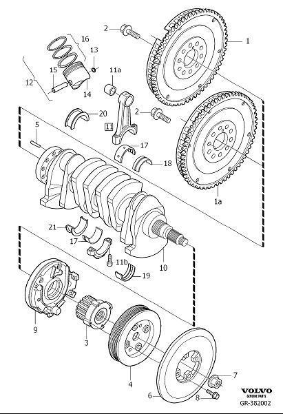 Volvo S80 Engine Piston. Piston Kit. Crank Mechanism