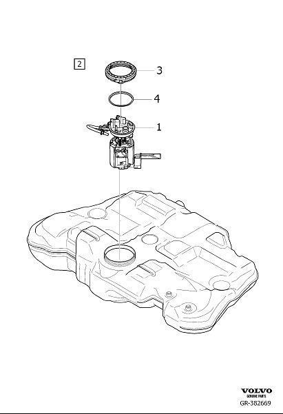 Volvo XC60 Electric Fuel Pump. PUMP UNIT. Variant code