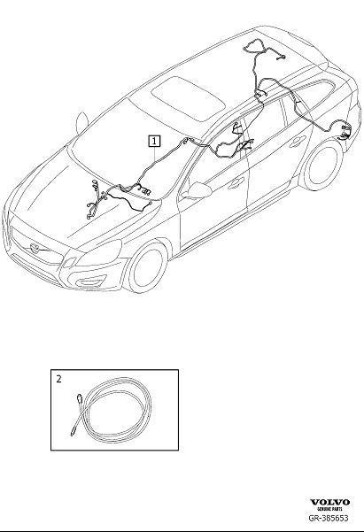Volvo V60 Wiring Harness. Cable Harness Infotainment