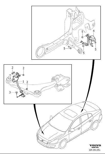 Volvo S60 Cmp Sensor. Position Sensor, Headlight levelling
