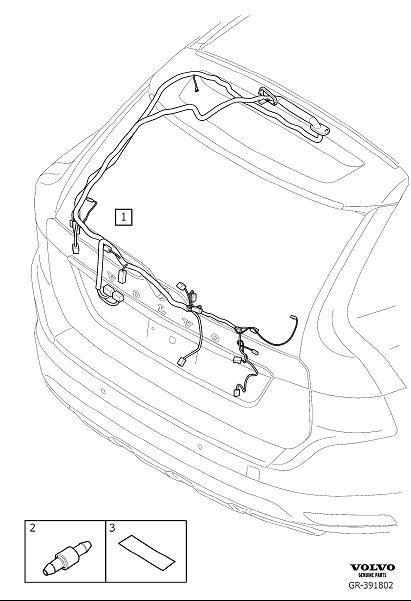 Volvo XC60 Wiring Harness. Cable Harness Tailgate. FC 22