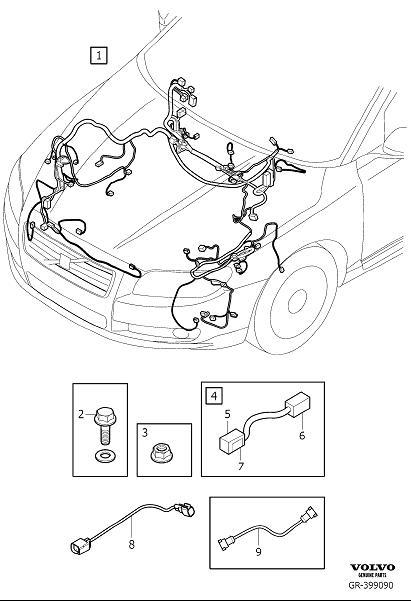 Volvo V70 Engine Wiring Harness. Active Chassis. Cable