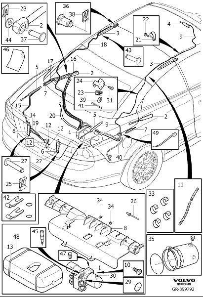 Volvo C70 Wiring Harness. Hydraulic System Cabriolet