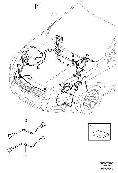Volvo S60 Wiring Harness. Cable Harness Engine Compartment