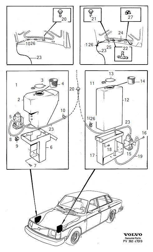 Volvo 240 Pump. Windscreen Washers. Windshield Washers