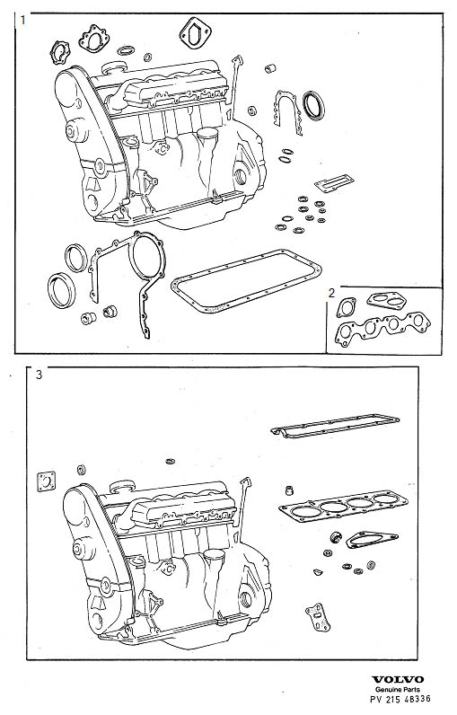 Volvo 240 Gasket Kits. B17/19/21 A, K. B19. B21. Engine