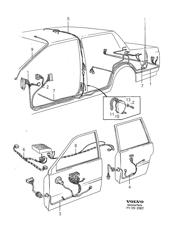 Volvo 740 Wiring Harness. ABS. Cabin. Cable Harness