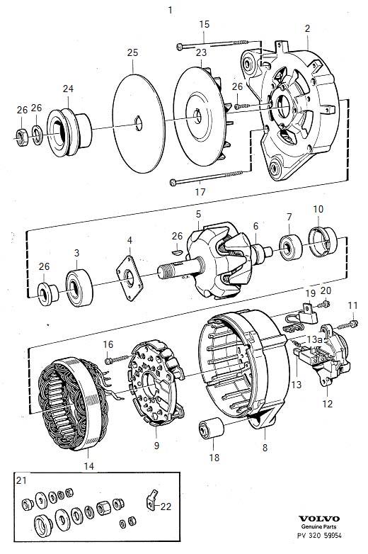 Volvo 240 Capacitor. Generator, Alternator, BOSCH