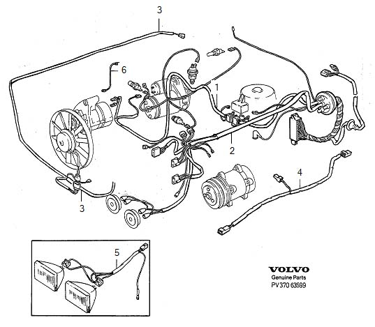 Volvo 760 Wiring Harness. Cable Harness. Diesel. Engine