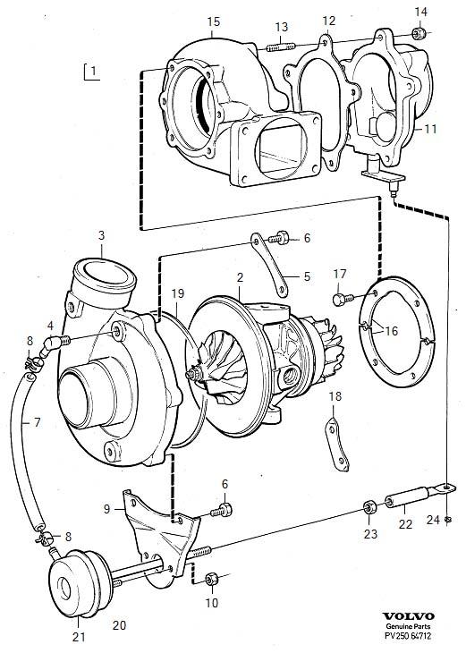 Volvo 240 Hose. Turbocharger. 1367867. 1326425. Engine