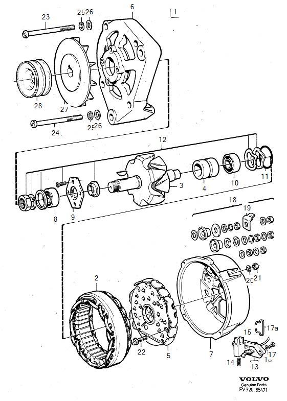 Volvo 240 Voltage Regulator. Alternator. Generator (ac