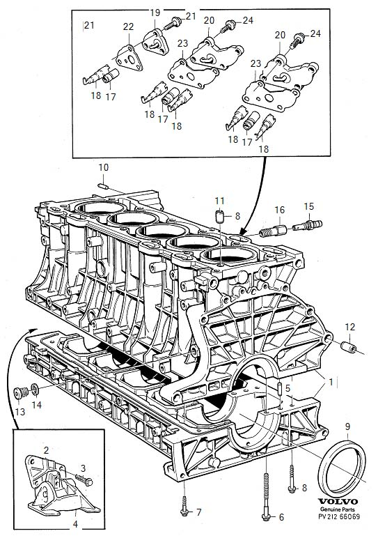 Volvo S70 Cover. Cylinder Block. Engine Block. TURBO. 5CYL