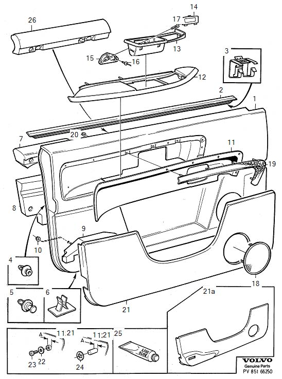 Volvo S90 Parts Door Panel. 22 24. (Right, Front, Beige