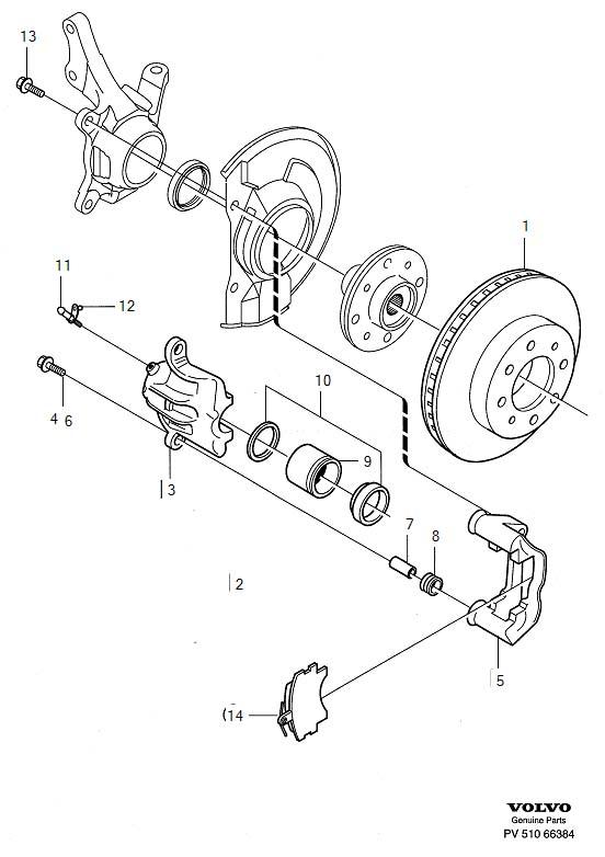 Volvo V40 Disc Brake Caliper Guide Pin Boot. Disc Brake