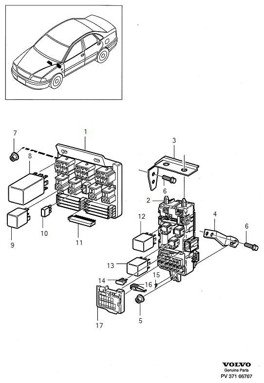 Volvo V40 Fuse Box Bracket. Cabin. Central electr. Unit