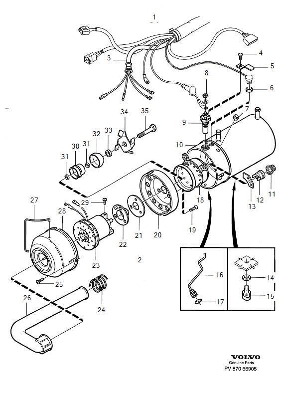 Volvo V40 Screw. Heater Unit. Parking Heater. 30862123