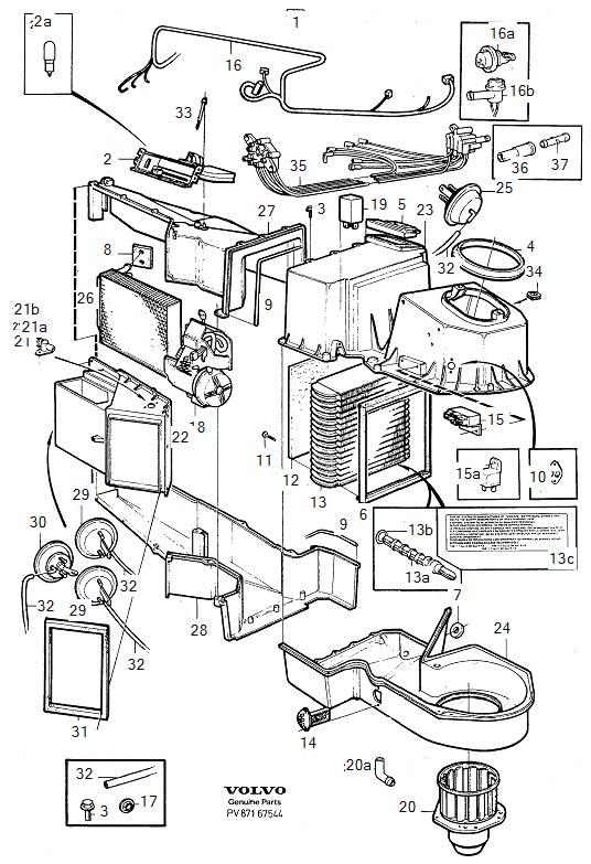 Volvo 760 Wiring Harness. COMBU. Control). El/vacuum