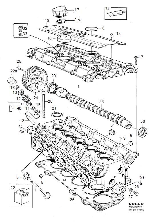Volvo 850 Engine Cylinder Head Gasket. B5252S. B5254FS