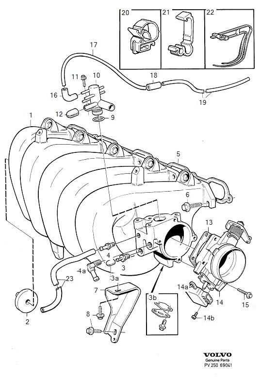 Volvo S70 Vacuum Hose. Meter, Compensation, Idling