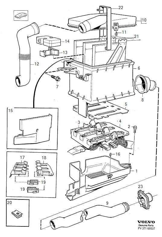 Volvo 850 Engine Air Intake Hose. 1994-1995. 1996. L.H.D