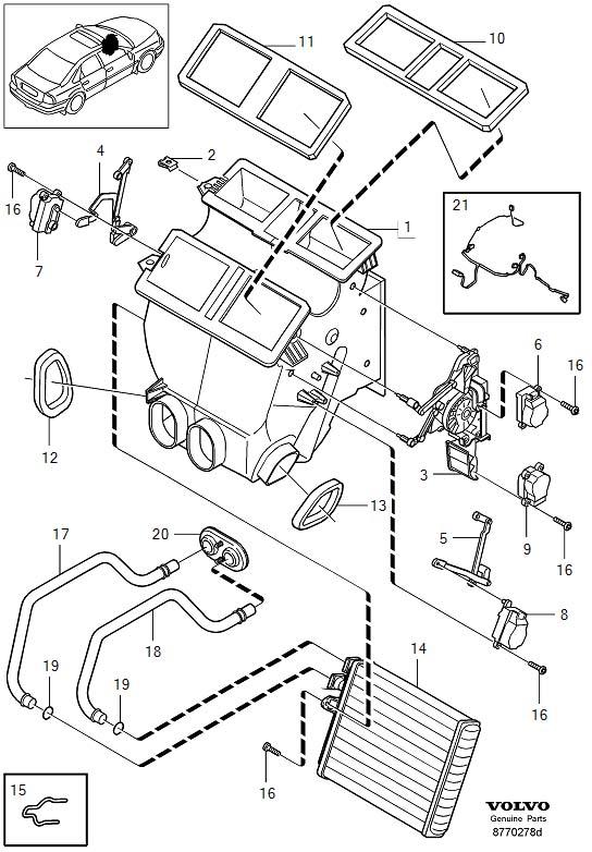 Volvo S80 Wiring Harness. Air Distributor. CH 279947