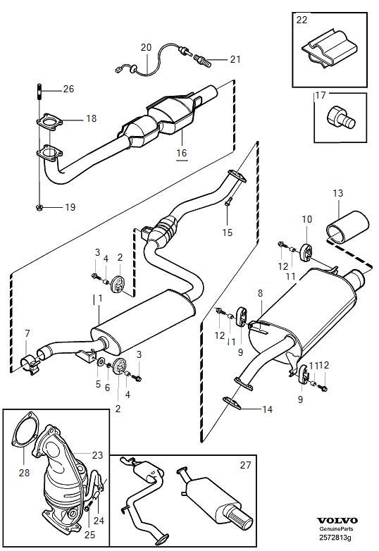 Volvo V40 Catalytic Converter Gasket. 4CYL TURBO. EXC (AU