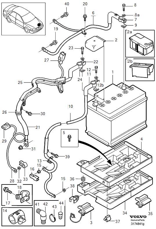 Volvo S40 Flange Screw. Battery. DSL. M8x25. Transmission