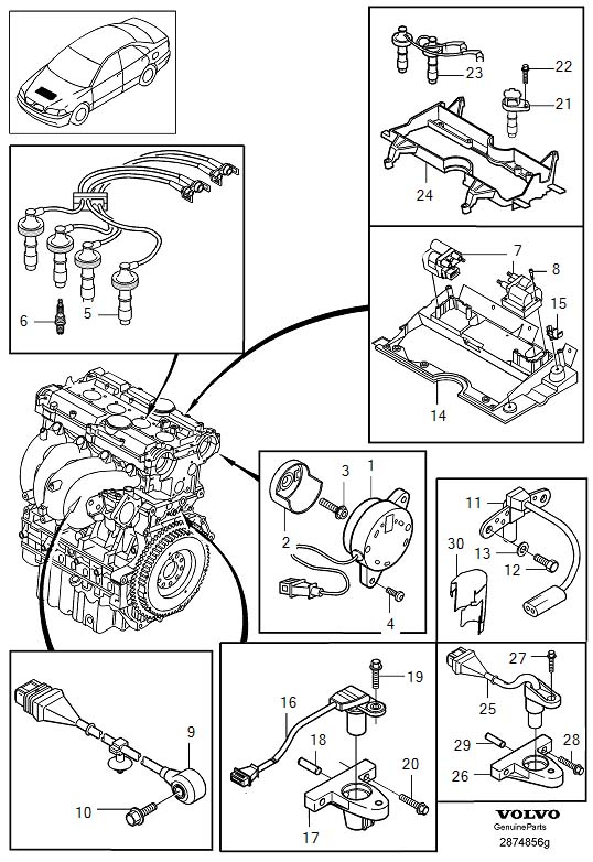 2010 Volvo S40 Spark Plug Wire Set. IGNITION CABLE KIT